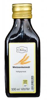Öl aus Weizenkeimlingen, 100ml, kaltgepresst, naturbelassen – reich an natürlichem Vitamin E, zur Hautpflege, gegen Blutverklumpung, Arteriosklerose, ersetzt Aspirin, senkt Cholesterin, erhöht körperliche Belastbarkeit