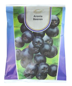Aronia (Aronia melanocarpa) beseitigt Freie Radikale und schützt vor Tumoren, beugt Arterienverkalkung und dem hohen Blutdruck vor, Packung loser Früchte 50g