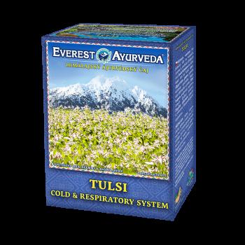 Tulsi, 100g, ayurvedische Kräutermischung bei Erkältung mit indischem Basilikum und 7 Kräutern, antibakteriell, antiviral, löst Schleim auf, senkt Fieber, loser Tee