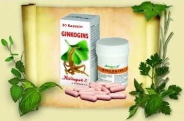 Ginkgogins Kapseln - mit Ginkgo und Ginseng für mehr Konzentration, gutes Gedächtnis und Ausdauer, erhöhen Leistungsfähigkeit, 30 Kapseln