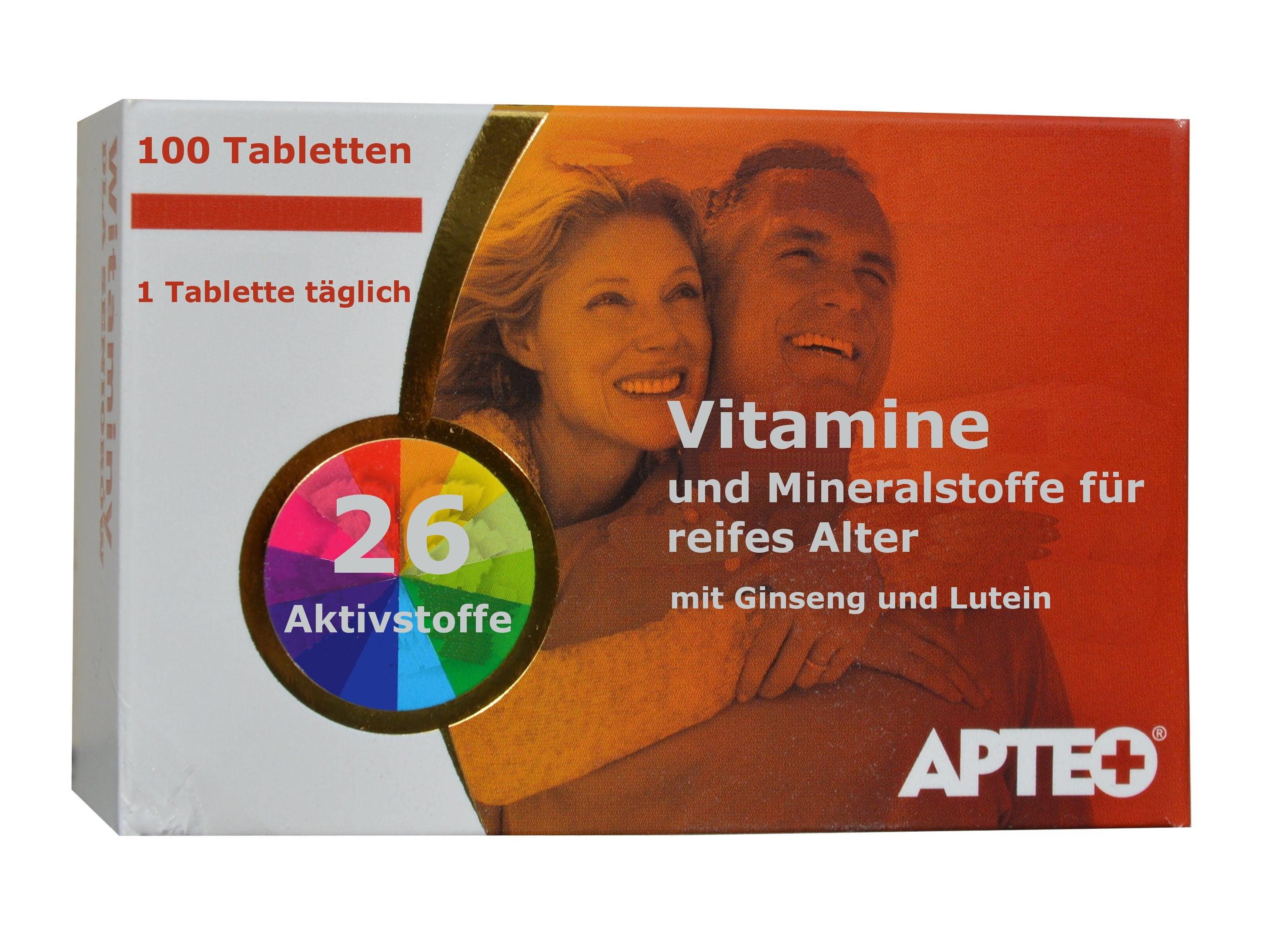 tibet waren multivitamine und mineralstoffe f r reifes alter senioren 100 tabletten mit. Black Bedroom Furniture Sets. Home Design Ideas